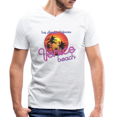 Venice - Mannen bio T-shirt met V-hals van Stanley & Stella