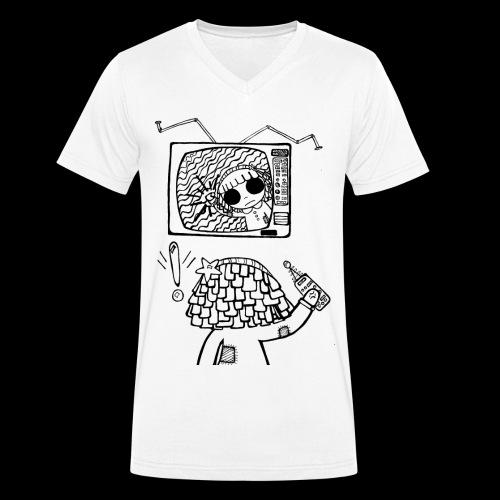 dehidre 1 - Camiseta ecológica hombre con cuello de pico de Stanley & Stella