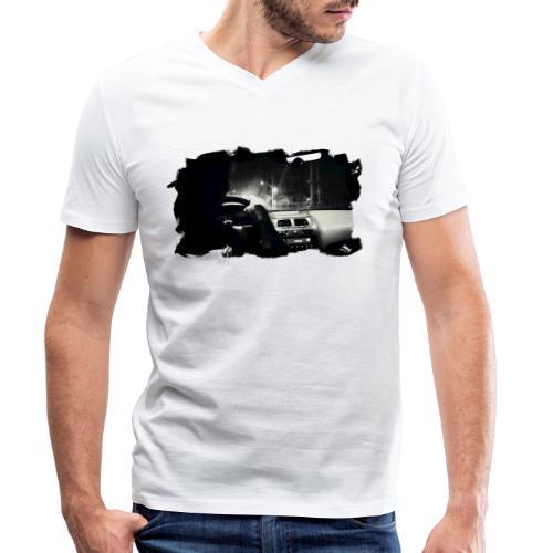 Driving at Night (with black PS logo) - Økologisk Stanley & Stella T-shirt med V-udskæring til herrer