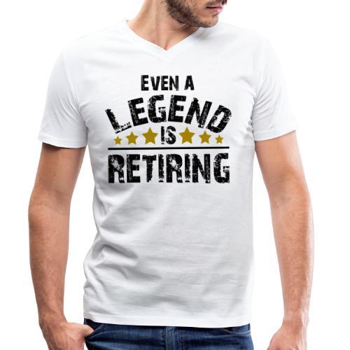 Legend Rente Pension Ruhestand Pensionist Geschenk - Männer Bio-T-Shirt mit V-Ausschnitt von Stanley & Stella