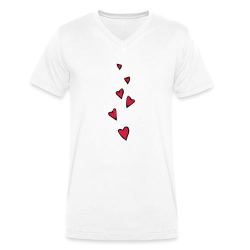 Cuori - T-shirt ecologica da uomo con scollo a V di Stanley & Stella