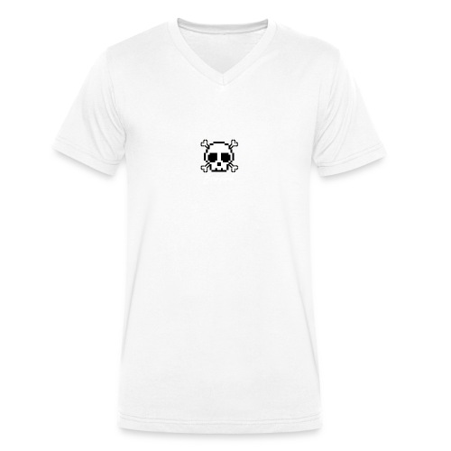 Scripted. Skull - Men's Organic V-Neck T-Shirt by Stanley & Stella