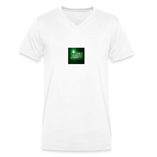 logo jgn - Mannen bio T-shirt met V-hals van Stanley & Stella