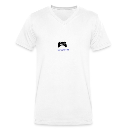 spel time - Ekologisk T-shirt med V-ringning herr från Stanley & Stella