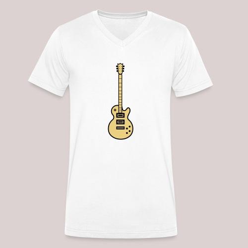 22-30 Guitar Gibson Les Paul - Männer Bio-T-Shirt mit V-Ausschnitt von Stanley & Stella