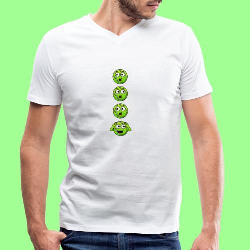 ZA KAŻDYM RAZEM - Ekologiczna koszulka męska z dekoltem w serek Stanley & Stella