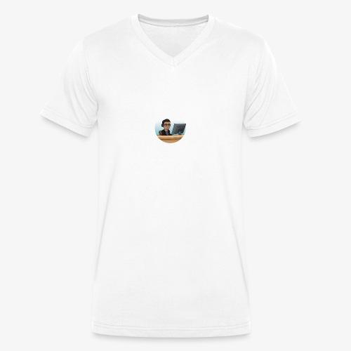 Gelangweilt im Büro - Männer Bio-T-Shirt mit V-Ausschnitt von Stanley & Stella