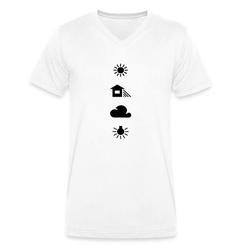 Weissabgleich - Männer Bio-T-Shirt mit V-Ausschnitt von Stanley & Stella