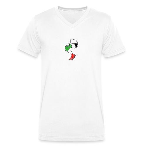 Italia T-Shirt Herren Farbe - Männer Bio-T-Shirt mit V-Ausschnitt von Stanley & Stella