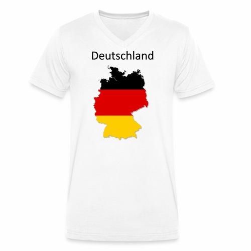 Deutschland Karte - Männer Bio-T-Shirt mit V-Ausschnitt von Stanley & Stella