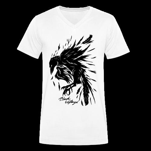 raven_tribal - Männer Bio-T-Shirt mit V-Ausschnitt von Stanley & Stella