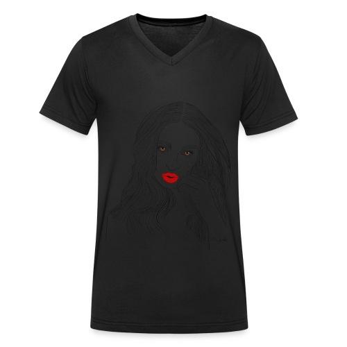 emily - T-shirt ecologica da uomo con scollo a V di Stanley & Stella