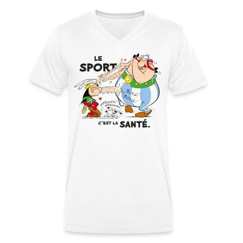Astérix et Obélix - Le sport c'est la santé - T-shirt bio col V Stanley & Stella Homme