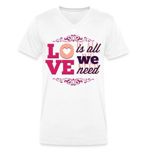Valentinstag - Männer Bio-T-Shirt mit V-Ausschnitt von Stanley & Stella