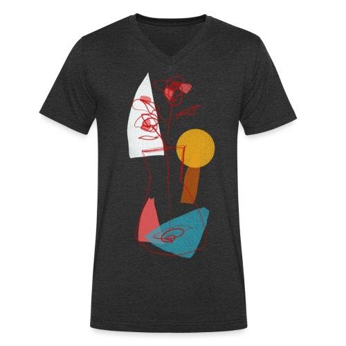 Abstract sun - T-shirt ecologica da uomo con scollo a V di Stanley & Stella