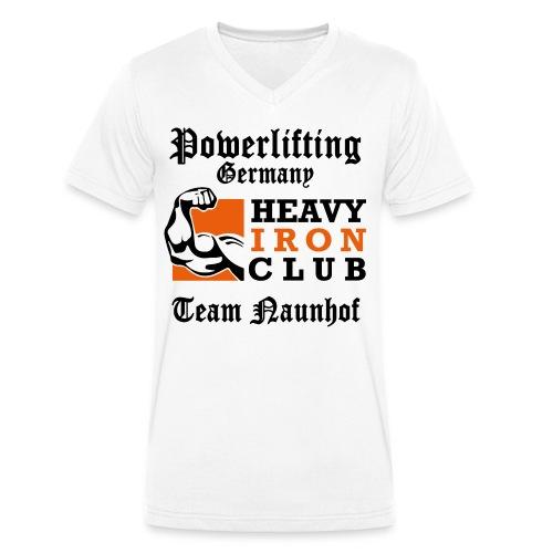 Heavy Iron Club Team-Logo für hellen Untergrund - Männer Bio-T-Shirt mit V-Ausschnitt von Stanley & Stella
