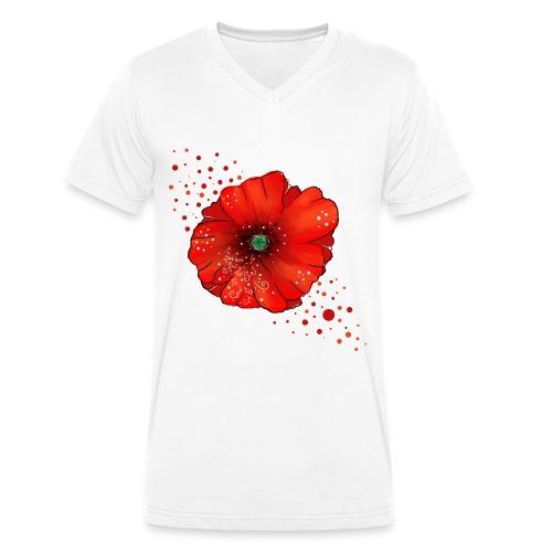 Mohnblume - Männer Bio-T-Shirt mit V-Ausschnitt von Stanley & Stella