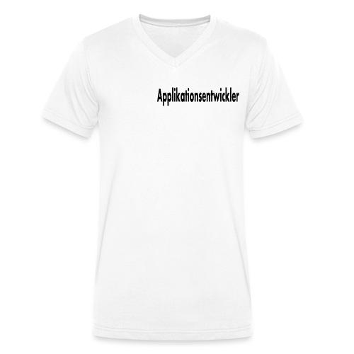 applikationsentwickler - Männer Bio-T-Shirt mit V-Ausschnitt von Stanley & Stella