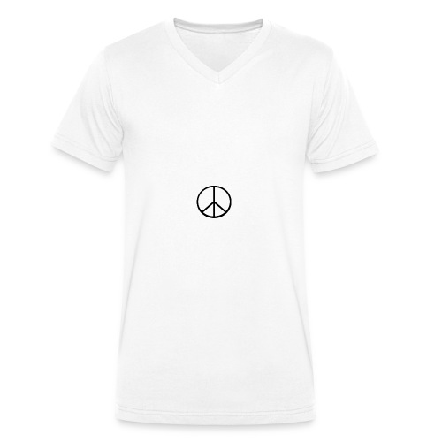 peace - Ekologisk T-shirt med V-ringning herr från Stanley & Stella