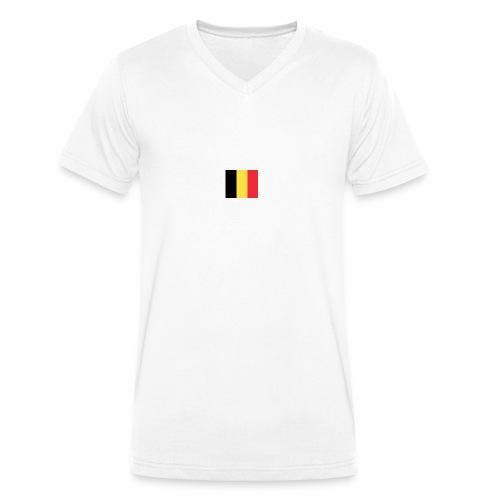 vlag be - Mannen bio T-shirt met V-hals van Stanley & Stella