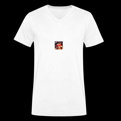 camo legend - Men's Organic V-Neck T-Shirt by Stanley & Stella