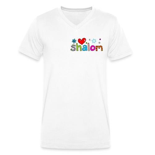 Shalom II - Männer Bio-T-Shirt mit V-Ausschnitt von Stanley & Stella