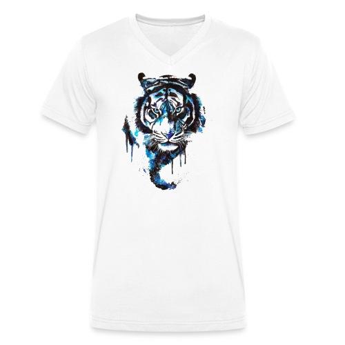 Blue Tiger - Premium Shirt - Männer Bio-T-Shirt mit V-Ausschnitt von Stanley & Stella