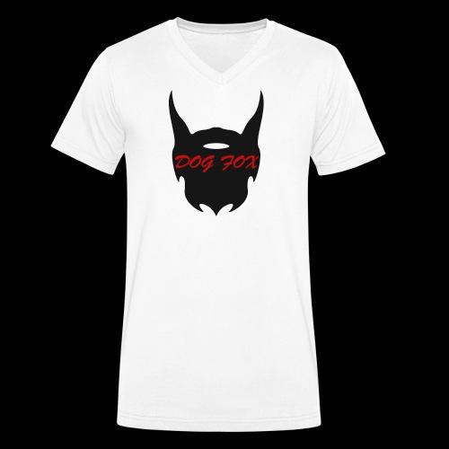 Dogfox Devil - Männer Bio-T-Shirt mit V-Ausschnitt von Stanley & Stella