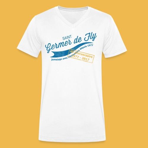 40 Jahre Städtepartnerschaft - Männer Bio-T-Shirt mit V-Ausschnitt von Stanley & Stella