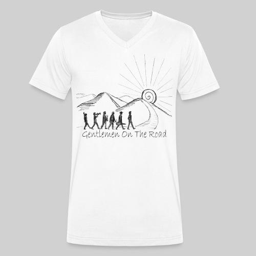 Gentlemen Zeichnung - Männer Bio-T-Shirt mit V-Ausschnitt von Stanley & Stella