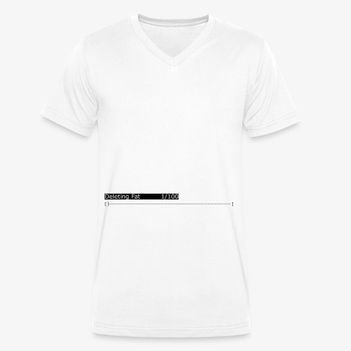 Deleting Fat: Gym, Workout, Fitness - Men's Organic V-Neck T-Shirt by Stanley & Stella