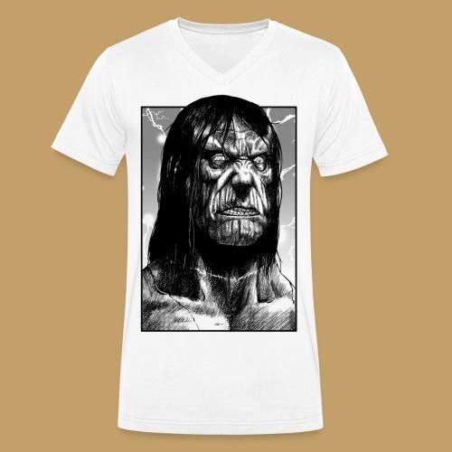 Frankenstein's Monster - Ekologiczna koszulka męska z dekoltem w serek Stanley & Stella