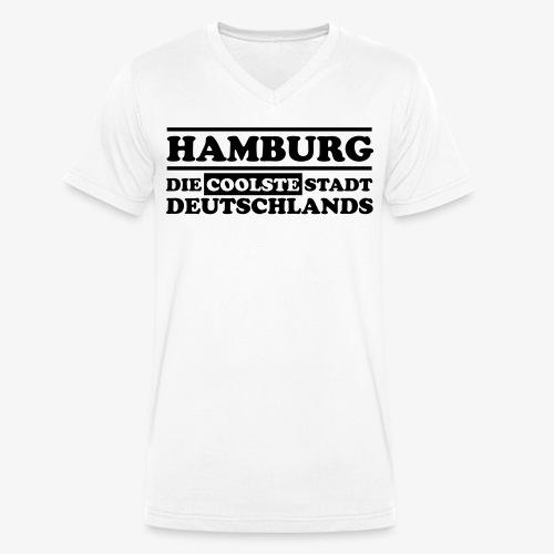 Hamburg Die coolste Stadt Deutschlands B 1c - Männer Bio-T-Shirt mit V-Ausschnitt von Stanley & Stella
