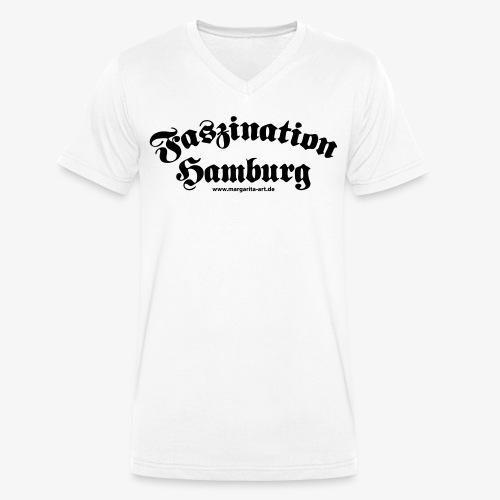 04 Faszination Hamburg Margarita Art - Männer Bio-T-Shirt mit V-Ausschnitt von Stanley & Stella