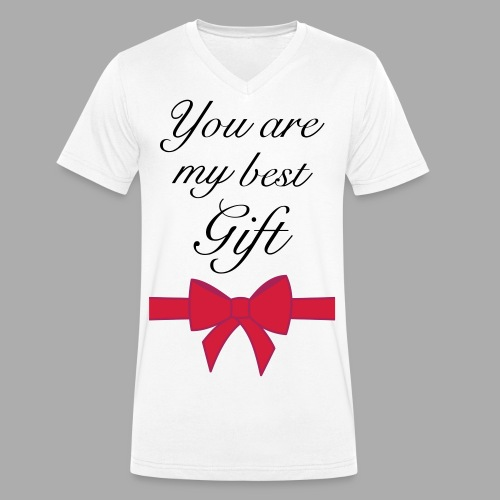 you are my best gift - Men's Organic V-Neck T-Shirt by Stanley & Stella