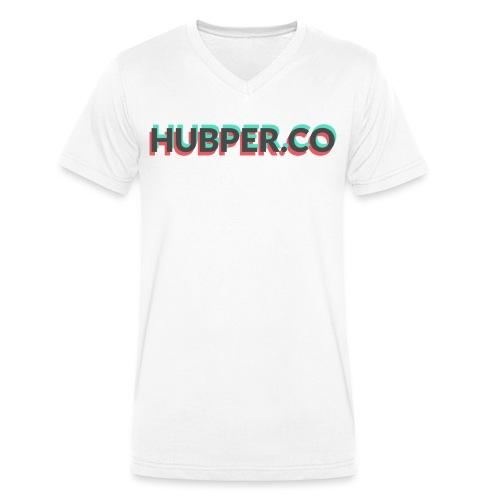 Hubper.co Overprinted    core colors - Mannen bio T-shirt met V-hals van Stanley & Stella