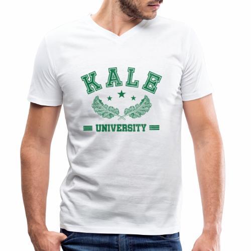 Kale University - Lustige Veganer Geschenkidee - Männer Bio-T-Shirt mit V-Ausschnitt von Stanley & Stella
