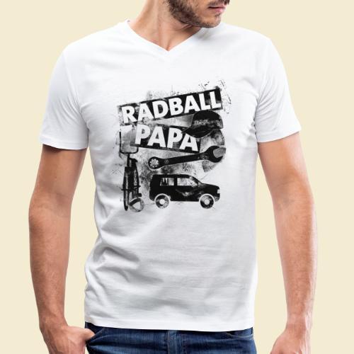 Radball   Papa - Männer Bio-T-Shirt mit V-Ausschnitt von Stanley & Stella