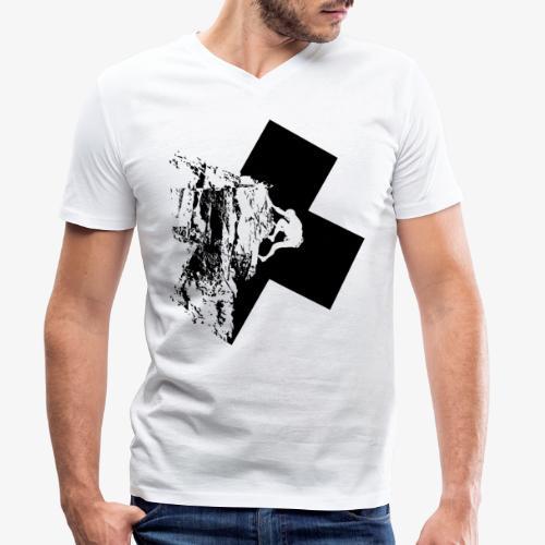 Escalada en roca - Men's Organic V-Neck T-Shirt by Stanley & Stella