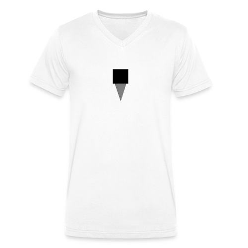 Mystery Mike Hat - Men's Organic V-Neck T-Shirt by Stanley & Stella