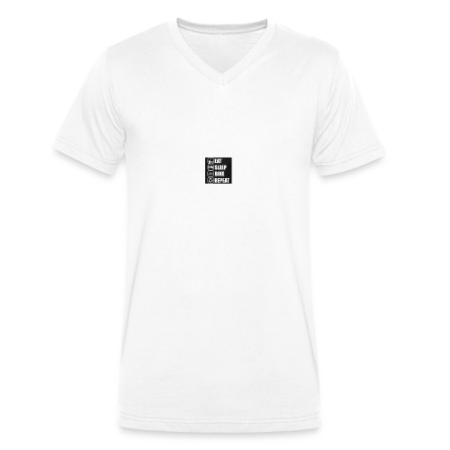 eat sleep bike repeat - T-shirt bio col V Stanley & Stella Homme
