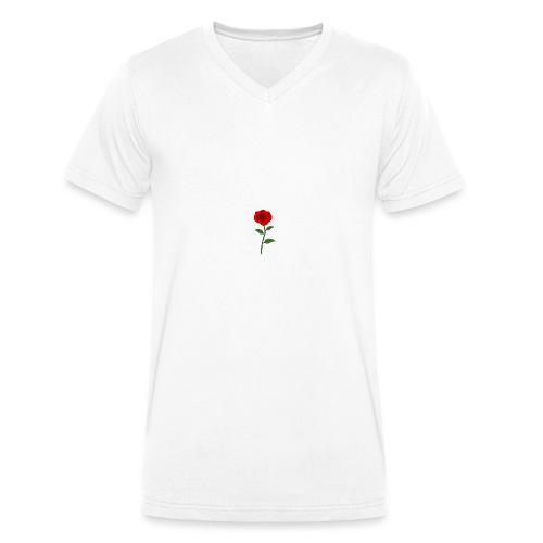 rose - Ekologiczna koszulka męska z dekoltem w serek Stanley & Stella