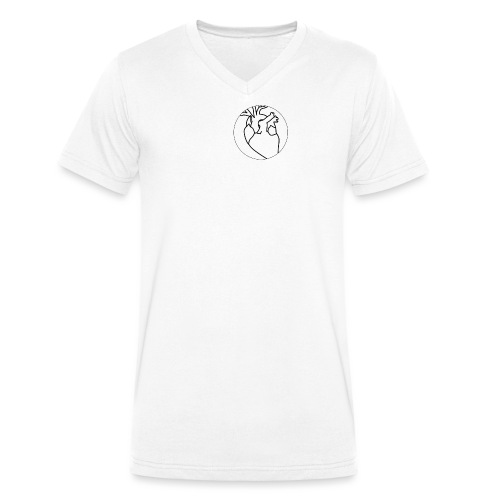 Black heart - Men's Organic V-Neck T-Shirt by Stanley & Stella