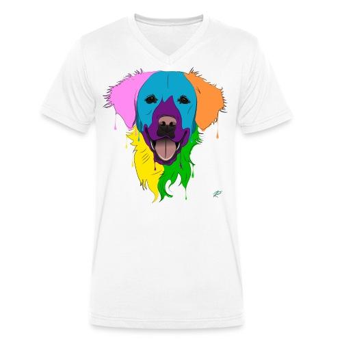 Golden Retriever - T-shirt ecologica da uomo con scollo a V di Stanley & Stella