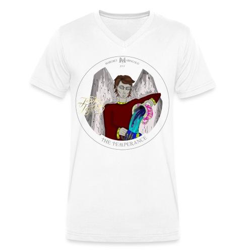 The Temperance, Die Mäßigkeit Tarot Karte, Schütze - Männer Bio-T-Shirt mit V-Ausschnitt von Stanley & Stella