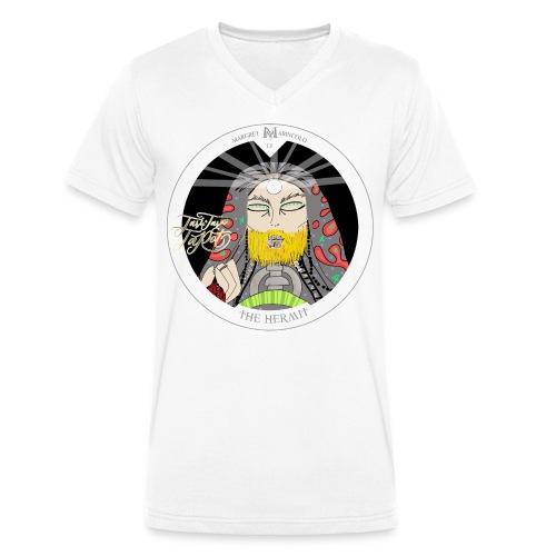 The Hermit | Der Eremit Tarot-Karte | Jungfrau - Männer Bio-T-Shirt mit V-Ausschnitt von Stanley & Stella