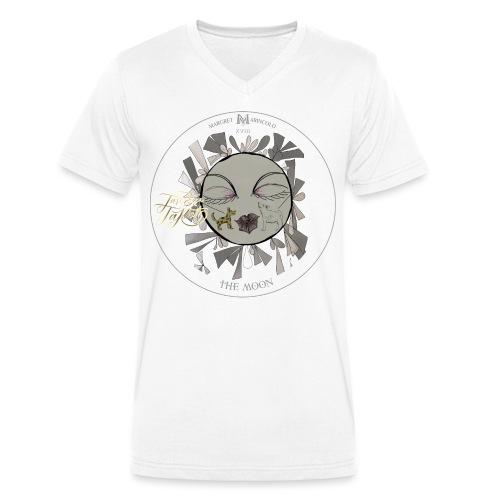 The Moon | Der Mond Tarot Karte | Fische - Männer Bio-T-Shirt mit V-Ausschnitt von Stanley & Stella