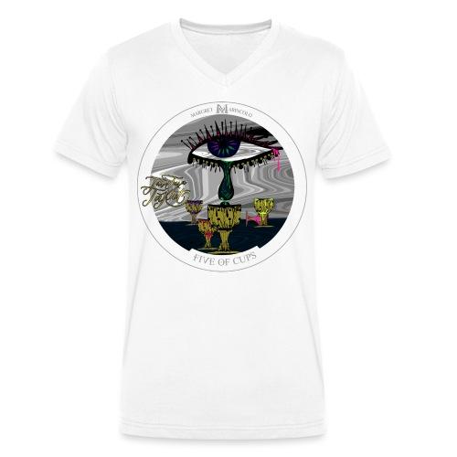 Five of Cups   Fünf der Kelche Tarot Karte - Männer Bio-T-Shirt mit V-Ausschnitt von Stanley & Stella