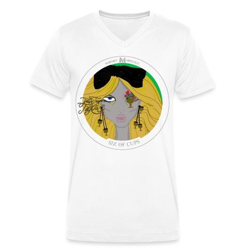 Six of Cups | Sechs der Kelche Tarot Karte - Männer Bio-T-Shirt mit V-Ausschnitt von Stanley & Stella