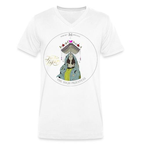 The HIGH PRIESTESS | Hohepriesterin Tarot Karte - Männer Bio-T-Shirt mit V-Ausschnitt von Stanley & Stella